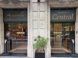 Exterior entrance of Sunotel Central, Barcelona