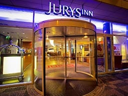 Exterior of Jurys Inn Prague entrance
