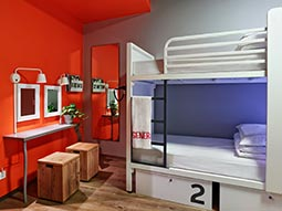 A dorm room in Generator Hostel Berlin Mitte