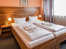 A double room in Alper Hotel