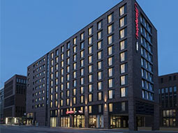 The exterior of Hampton by Hilton Hamburg City Centre