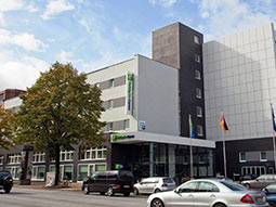 The exterior of Holiday Inn Express Hamburg