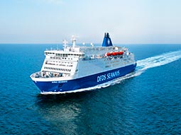 The DFDS cruise ship