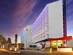 The exterior of Hard Rock Hotel