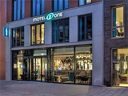 The exterior of Motel One Amsterdam