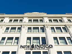 The exterior of Hotel Indigo Cardiff