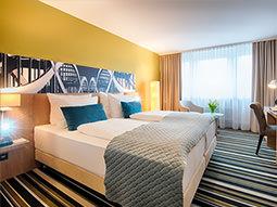 A hotel room in Leonardo Hotel Hamburg Elbbrücken