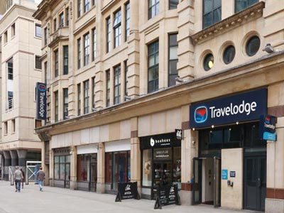 Exterior of Travelodge Cardiff Central Queen Street