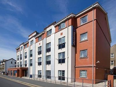 The exterior of Travelodge Blackpool South Promenade