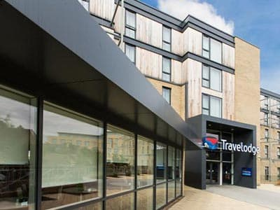 The exterior of Travelodge Cambridge Newmarket Road