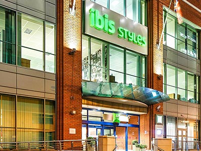 The exterior of Ibis Styles Birmingham City Centre