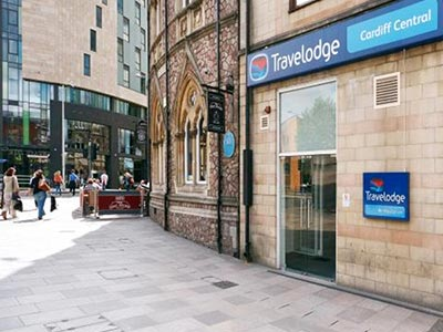 The exterior of Travelodge Cardiff Central
