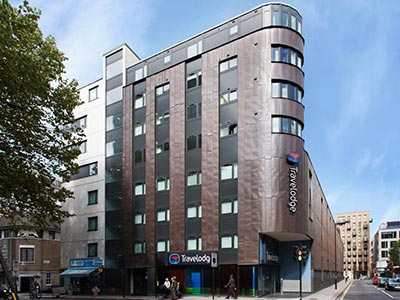 The exterior of Travelodge London Central Euston