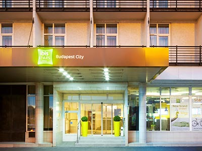 The exterior of Ibis Styles Budapest City
