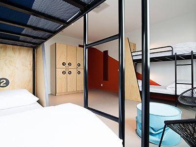 A dorm room in Via Hostel
