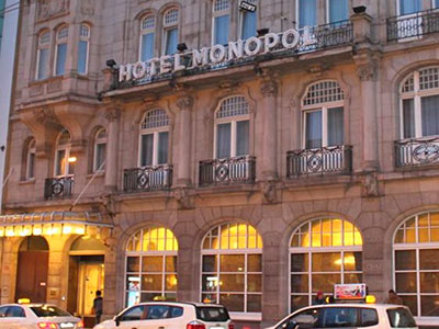 The exterior of Hotel Monopol