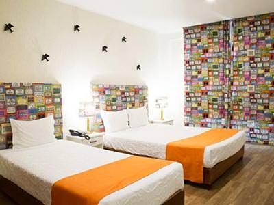 A twin room in Hotel AS Lisboa