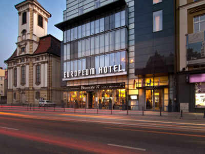 An outside view of Europeum Hotel