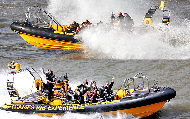 Two RIB boats on the Thames