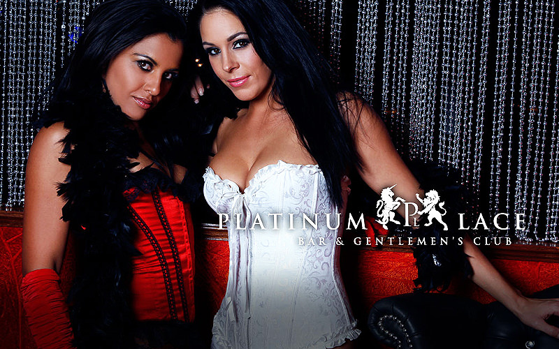Two brunette girls wearing corsets and looking into the camera