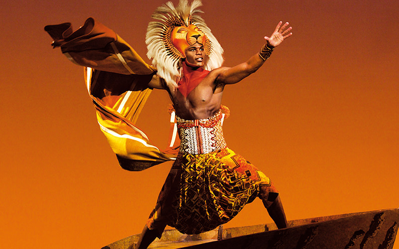 A male actor from The Lion King the Musical