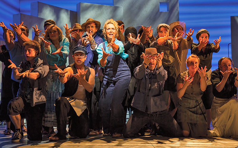 Actors on stage at Mamma Mia the Musical