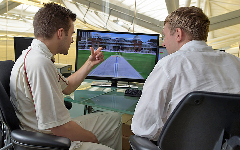 Computer analysis at Lords Cricket ground