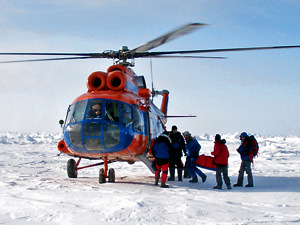 Arctic Helicopter Flight