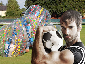 Bubble Football with a Sexy Referee