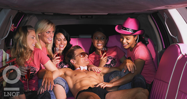 Women In a Limousine with a Stripper