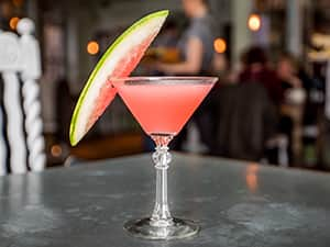 Watermelon Martini at The Botanist in Newcastle