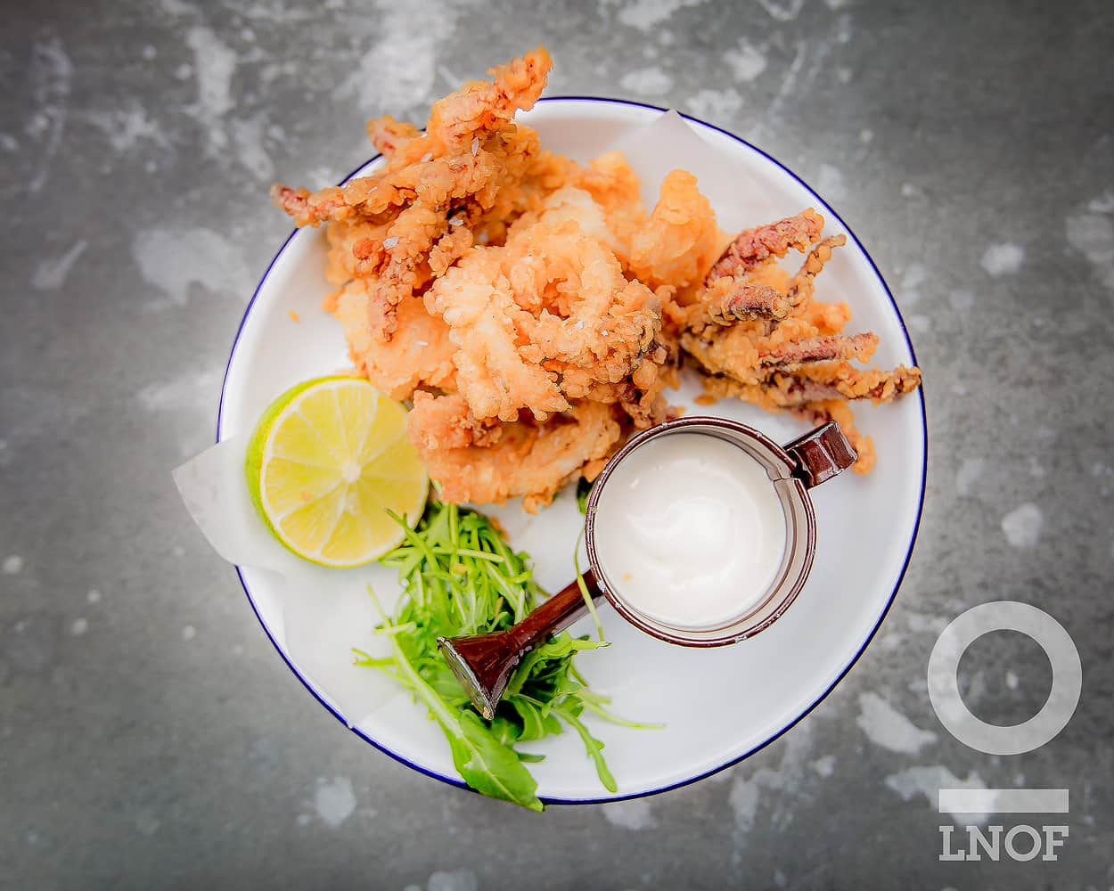 Calamari with lemon mayonnaise at The Botanist in Newcastle