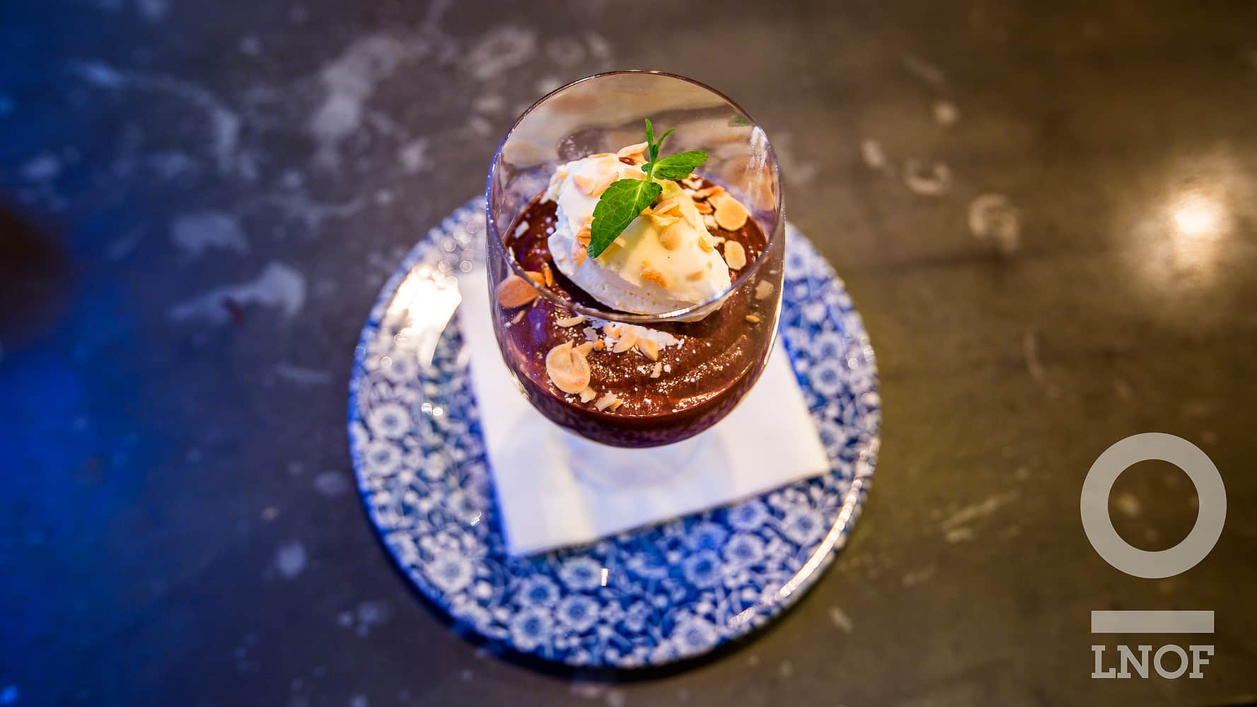Chocolate and praline mousse at The Botanist in Newcastle