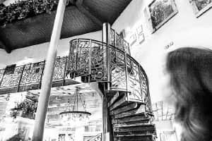 Spiral staircase at The Botanist in Newcastle