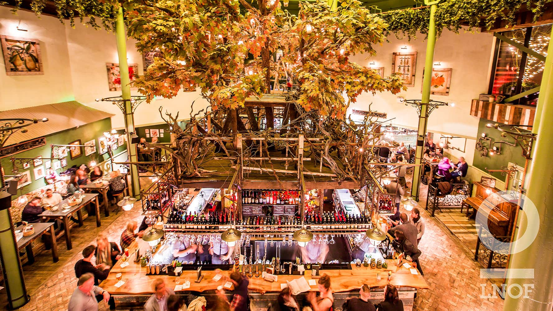 The pavilion-style bar at the Botanist in Newcastle