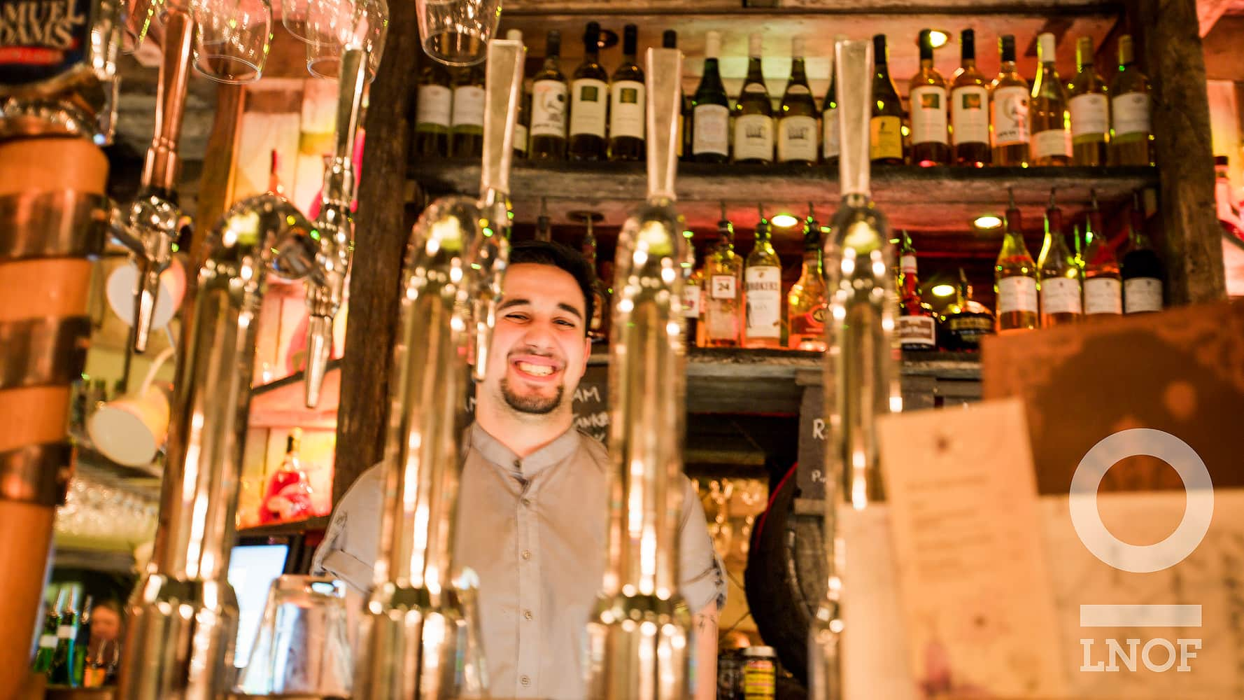 A barman at The Botanist in Newcastle