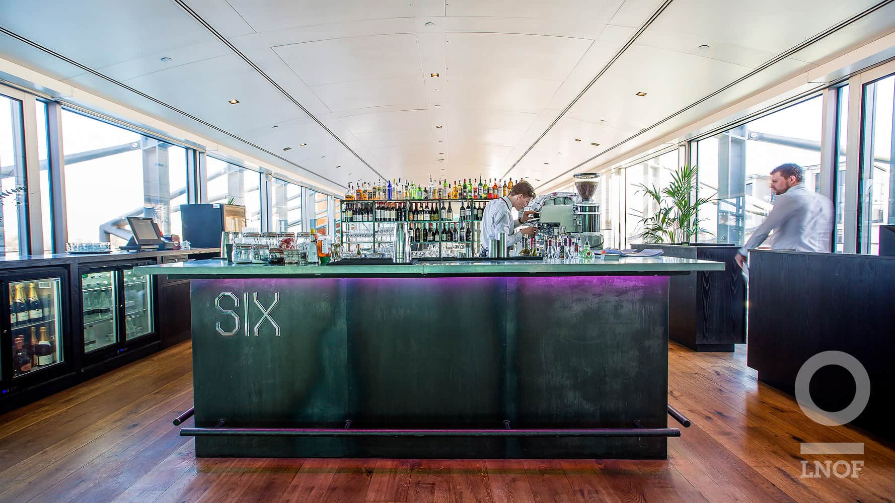 The bar at SIX restaurant