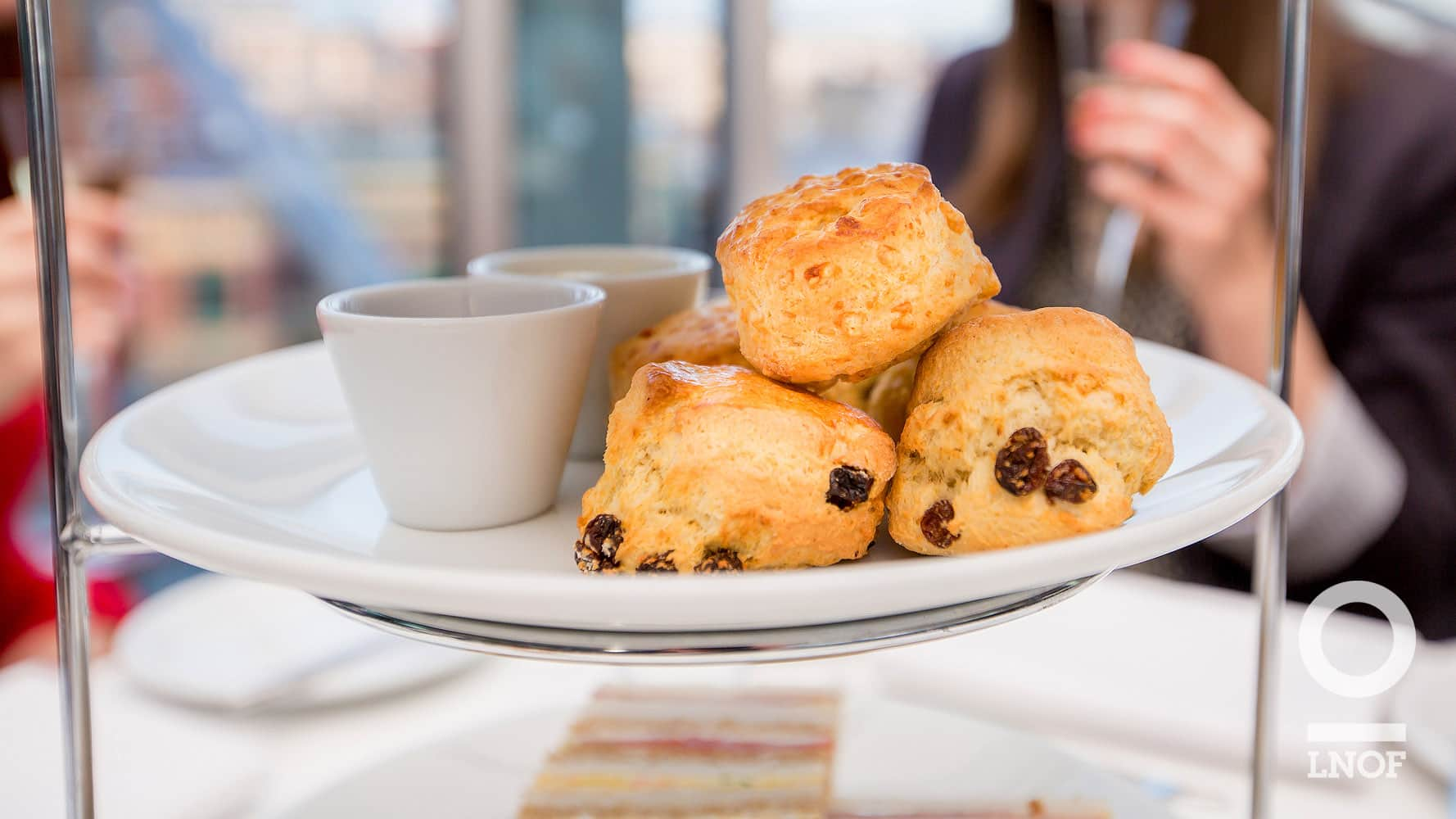 Assorted raisin and cheese scones