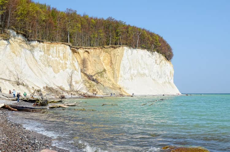 white cliffs of Rugen Island