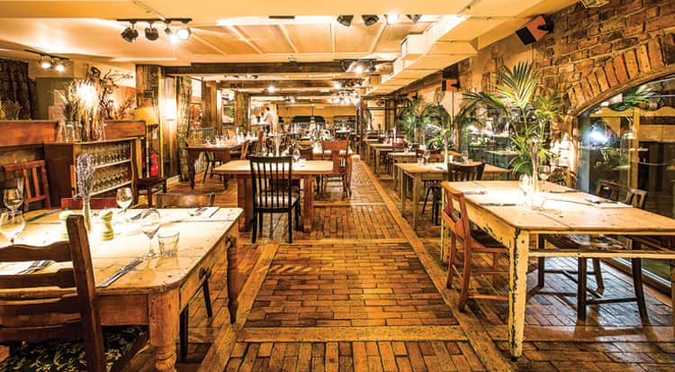 The stunning restaurant area at As You Like It