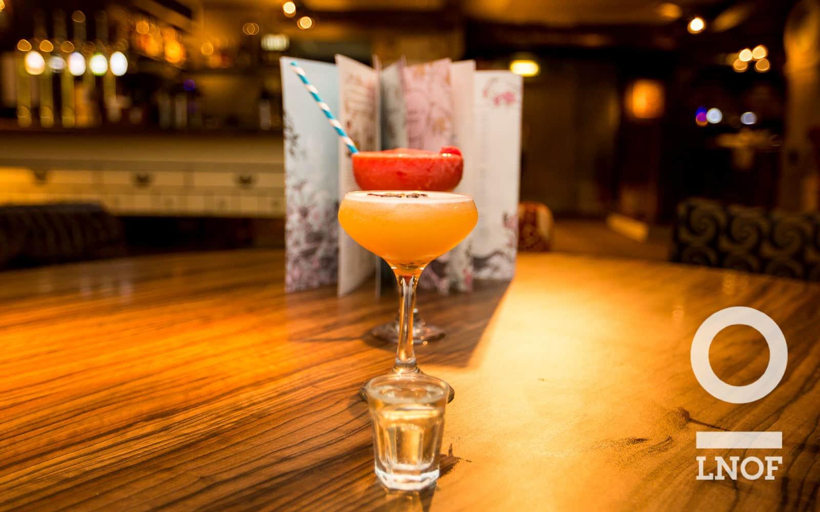 Porn Star Martini and Frozen Raspberry Daiquiri cocktails