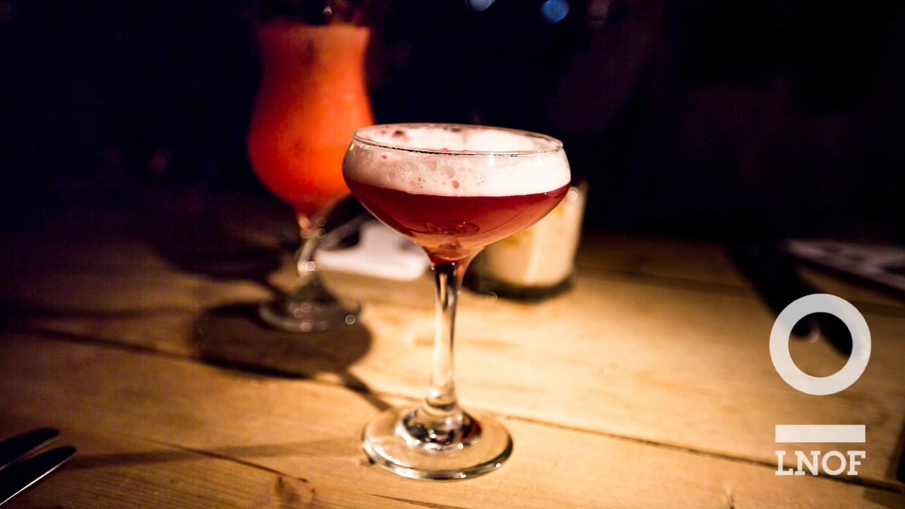 French Martini cocktail at the restaurant