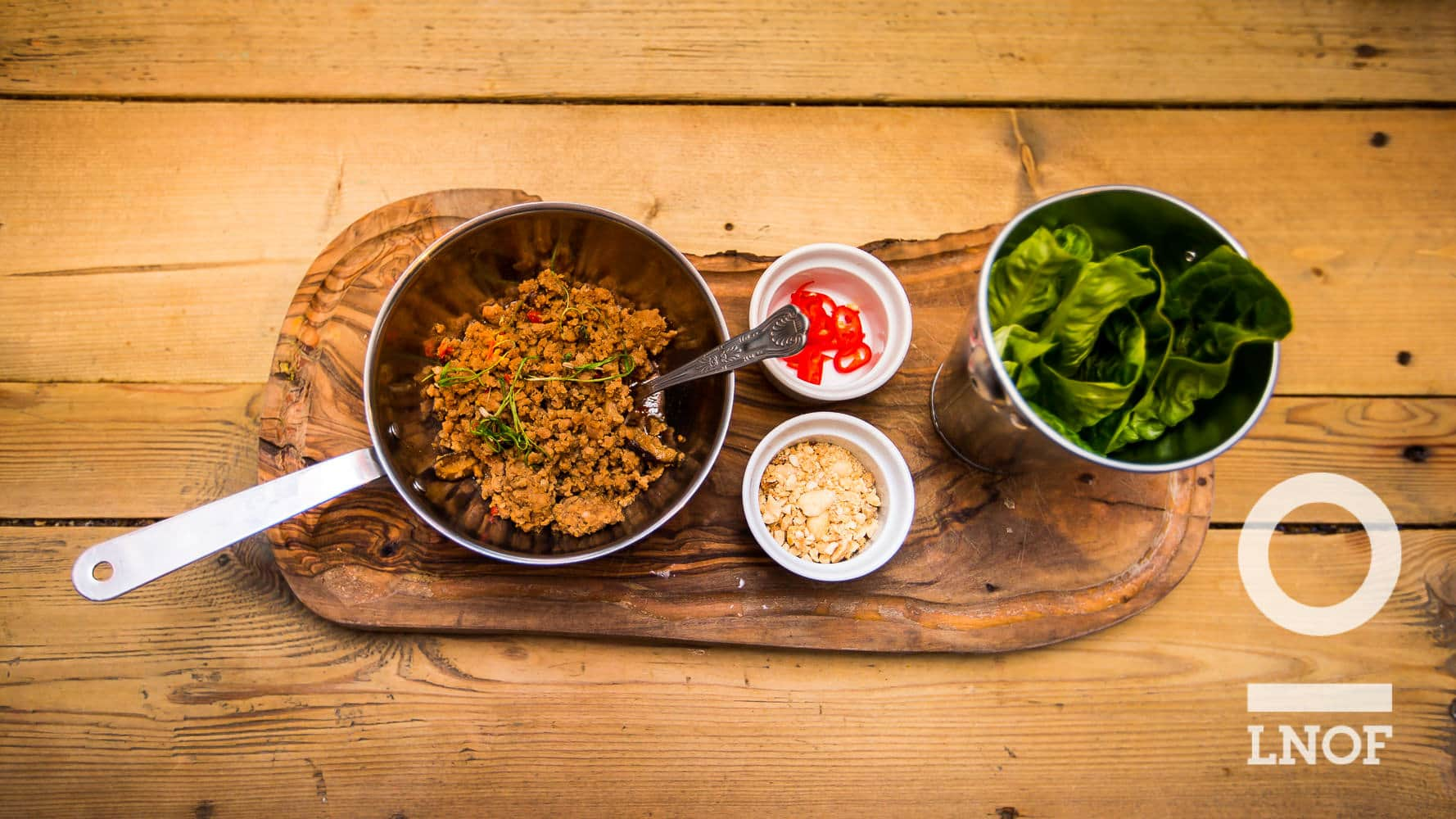 Pork San Choy Bau starter at As You Like It