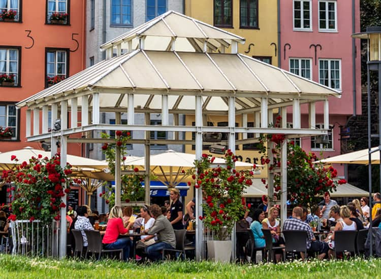 Beer tables in Cologne city centre