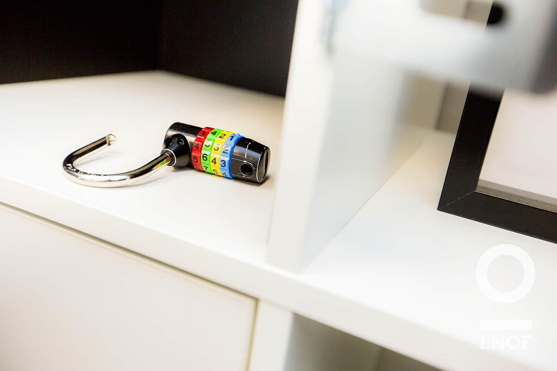 Colourful combination padlock