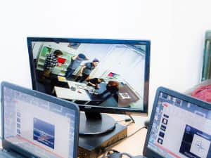 CCTV surveillance screens