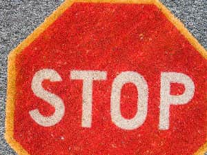 Stop sign door mat