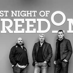 Rob Lee, Matt Mavir and Garry Hodgson in Last Night of Freedom office