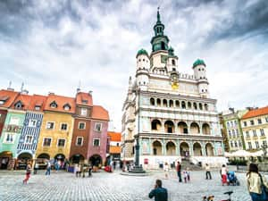 Poznan central square and the Renaissance Town Hal