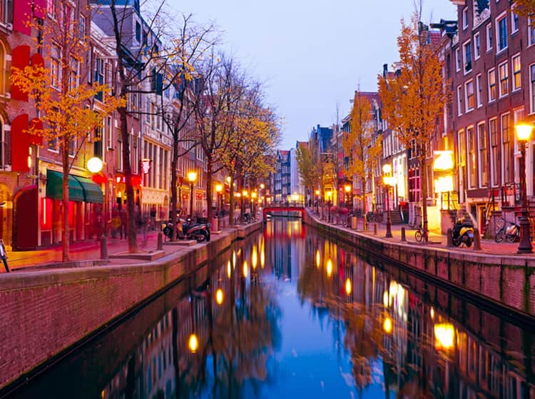 The Red Light District, De Wallen, in Amsterdam